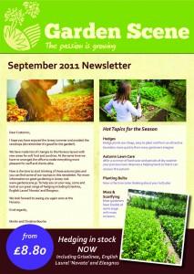 Garden Scene News Letter